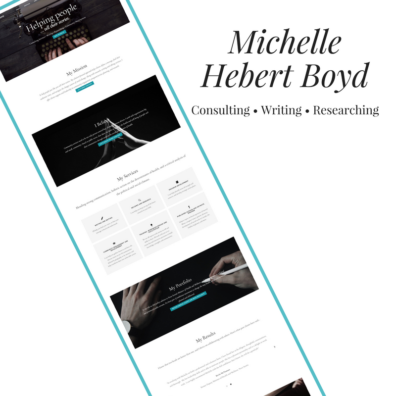 Portfolio image of a website designed by Danielle Crowell for Michelle Hebert Boyd's consulting business in Halifax, NS